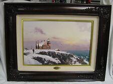 "REDUCED!!! Thomas Kinkade ""Block Island"" S/N #56/2450 framed Canvas Lithograph"