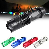 6000LM  Q5 LED Mini Flashlight 14500 AA Zoomable Torch Lamp Light UP HOT UP
