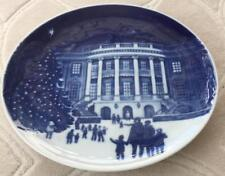 "Plate Collector Christmas in America 1987 Numbered Royal Blue & White 5"" D  #71G"