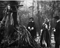 MARY COLLINSON hand-signed TWINS OF EVIL 8x10 uacc rd coa WITCH BURNED AT STAKE