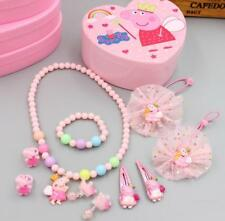 Peppa Pig Jewellery Box Princess Xmas Gift Kid Toy Children Necklace Ring Earrin