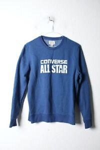 Converse All Star Mens Sweatshirt Pullover Jumper - Blue - Size Small (21-S8)
