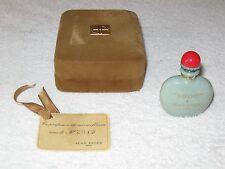 Vintage Jean Patou 1000 Green Perfume Bottle & Box - 1/4 OZ - Open - 1/4 Full