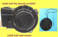 FRONT SNAP-ON LENS CAP to CAMERA SONY ALPHA A6000 +HOLDER, ALFA A 6000 /16-50mm
