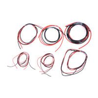 1meter Red+ Black Silicon Wire 12 14 16 18 22 24AWG Heatproof Soft Silicone CM