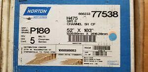 "Norton 52/"" x 75/"" Sand Belts 120 Grit R215 Metalite R Plyweld 13374 Price//Belt"