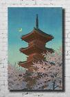 X158 Japanese Landscape Daytime Kawase Hasui Artwork Fabric Poster Art 40 24x36