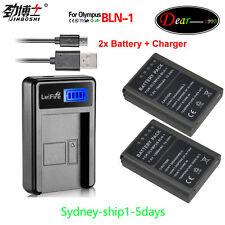 2xBLN-1 BLN1 Battery+Charger for Olympus OM-D E-M5 EM5, E-M1 EM1, PEN E-P5 by AU
