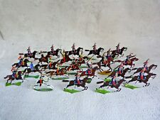 HEINRICHSEN - Plats d'étain - Zinnfiguren - 24 cavaliers français dont lanciers