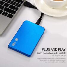 Disco duro móvil externo USB3.0 azul 2.5 '' HDD 2TB para computadora portátil PC