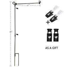 Wrought Iron Yard Garden Flag Stand Pole 36 BlackPost Outdoor Ships Fast from Us