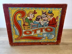 Vintage Lotto Drafts Game Box c1950s