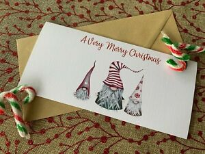 Rustic/Retro Christmas Money/Gift Voucher/Card/Wallet Gnomes
