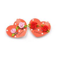 1Pair Cute Handmade Kids Flower Clip-On Earrings Party Girls Jewelry Gift  GQ