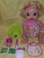 2007 Baby Alive Doll Learns To Potty Eyes Mouth Move TALKS SOFT FACE -WORKS!