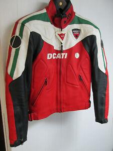 Ducati Dainese Men's Leather Jacket w/Armor Euro Sz 52 US Sz 42