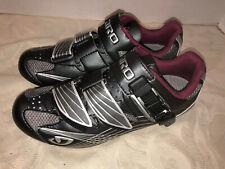Giro Women's Solara Cycling Road Bike Shoes EU 37 US 5.75 Black 3-Bolt Race