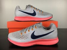 New Nike Air Zoom Pegasus 34 Mens Running Shoes Moon Beige Red [880555-200] Size