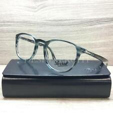 Persol 3143-V Eyeglasses Striped Grey Blue 1051 Authentic 49mm
