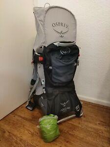 Osprey Poco AG Plus baby toddler Child carrier Hike Backpack + Sun & Rain Cover