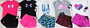 GIRL'S SZIE 6/6X NIKE & UNDER ARMOUR GIRL'S SUMMER OUTFITS CLOTHING LOT NWT!