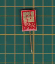 1977 Brno Czech Republic - stick pin badge