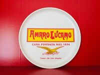 🔴 Amaro Lucano vassoio pubblicitario in vera bachelite Originale anni 70