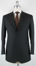 New $6000 Kiton Charcoal Gray Striped 100% Wool Suit 38/48