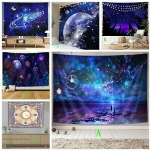 Galaxy Starry Sky Tapestry Wall Hanging Psychedelic Tapestries Background Decor