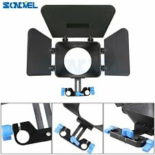 DSLR DV Video Camera Matte Box For 15mm Rail Rod Rig Suppot System Follow Focus