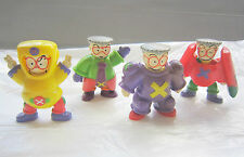 Rare Vintage McDonald's Happy Meal Toy for Set of 4 Singapore Mr Kiasu Character