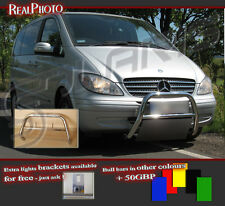 MERCEDES VITO/VIANO 04-10 LOW BULL BAR WITHOUT AXLE BARS +GRATIS STAINLESS STEEL