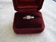 LADIES VINTAGE 14K YELLOW GOLD DIAMOND ENGAGEMENT RING