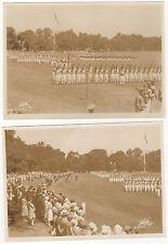 2 1930? U.S. Military Academy original photos cadets marching dress uniforms