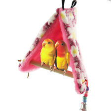 Bird Parrot Warm Fleece Hammock Perch Tent Hanging Swing Toys Bed Cave Cage Bunk