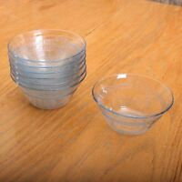7 Fire King Philbe Sapphire Blue Cereal Tart Individual Pie Bowls