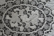 8 VINTAGE HAND MADE NEEDLE LACE PLACEMATS UU611