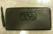 NEW Cole Haan Camlin Logo Large Continental Wallet Black NWT B45712 Zip Around