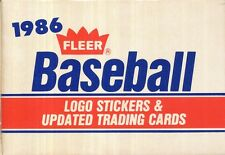1986 FLEER UPDATE BASEBALL SET