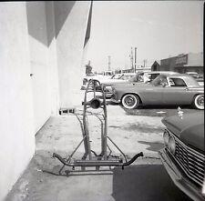 Front Engine Dragster Construction - Frame Only - Vintage B&W Race Negative