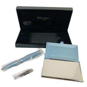 Bombay Company Company Crystal Pen & Card Case Rhinestone Blue New