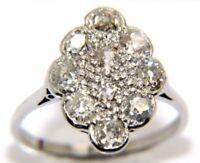 FEMMES 18 Carats Or blanc diamant taille de la bague K