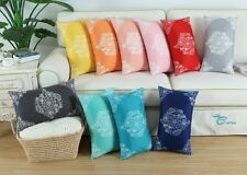 2pcs Rectangle Pillow Cases Cushion Covers Fleece Smooth Vintage Floral 30X50