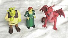 SHREK  Lot 3 Figurines COMANSI 2016 Figurine Shrek Fiona Dragon
