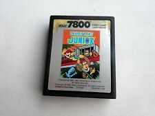 Atari 7800 Donkey Kong Junior Tested & Working *Label w/ Stains*