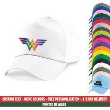 Wonder Woman Pride Baseball Cap Rainbow Glitter Gay LGBT Festival Party Gift Hat