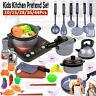 Children Kids Kitchen Toys Cookware Pretend Play Games Pan Pot Cooking Set