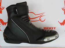 chaussures bottes en cuir moto 35 36 37 39 40 41 42 43 44 45 46 47 48 noir NEUF