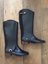 Melissa Noir Chelsea & Bottes d'équitation 2 en 1. Taille UK 4 UE 37. RRP £ 169