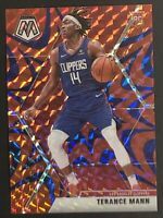 Terance Mann 2019-20 Mosaic #246 Red Blue Reactive Prizm Rookie RC RARE SP🔥